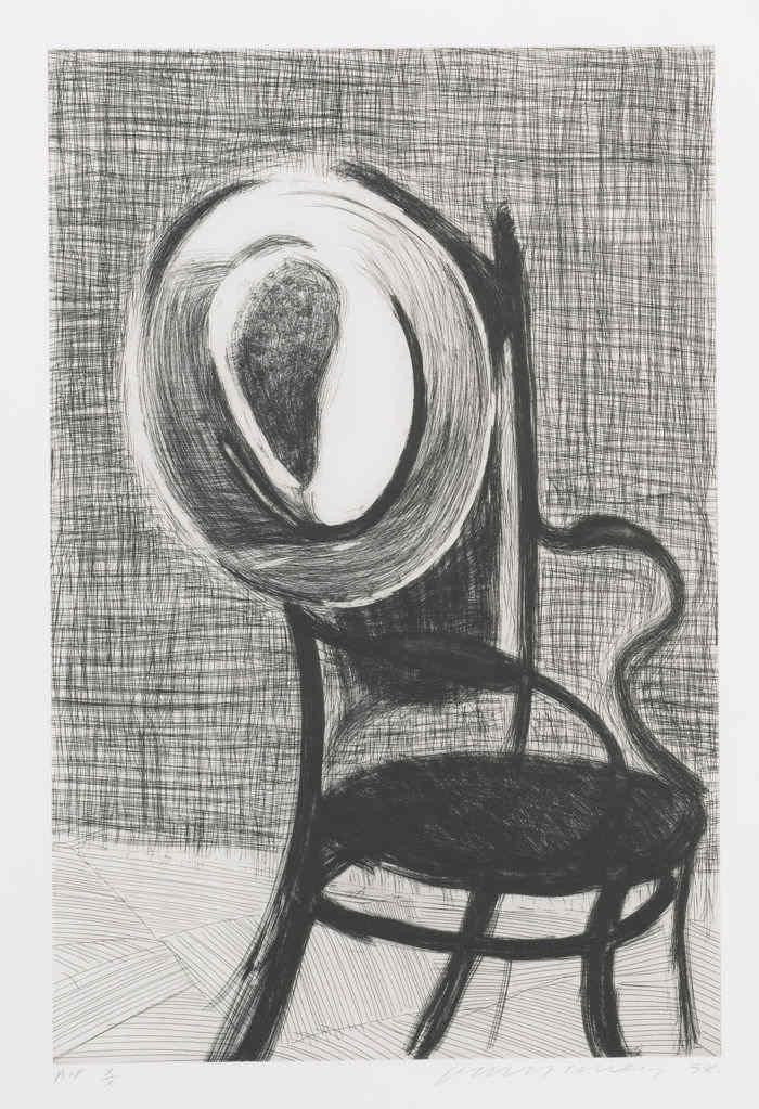 David Hockney-Hat On Chair-1998