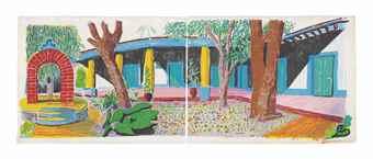 David Hockney-Hotel Acatlan: Second day, from Moving Focus-1985