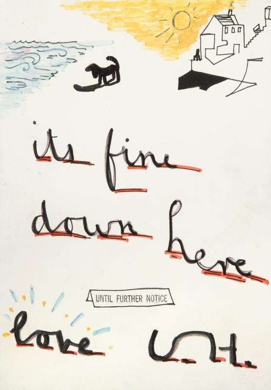 David Hockney-It's Fine Down Here-