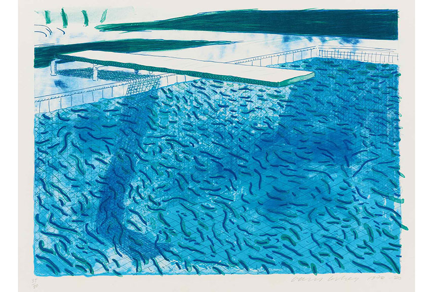 David Hockney's litography series is created in a collaboration with several printers