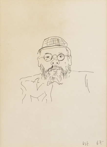 David Hockney-Portrait De Henry Geldzahler-1967
