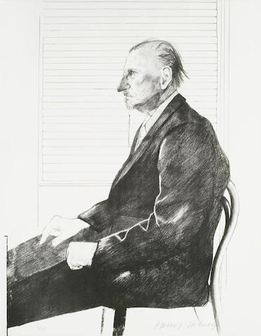 David Hockney-Portrait of Felix Mann-1969