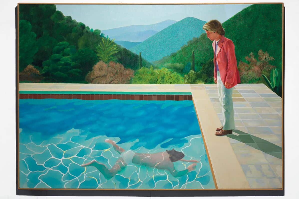 David Hockney - Portrait of an Artist (Pool with Two Figures), 1972