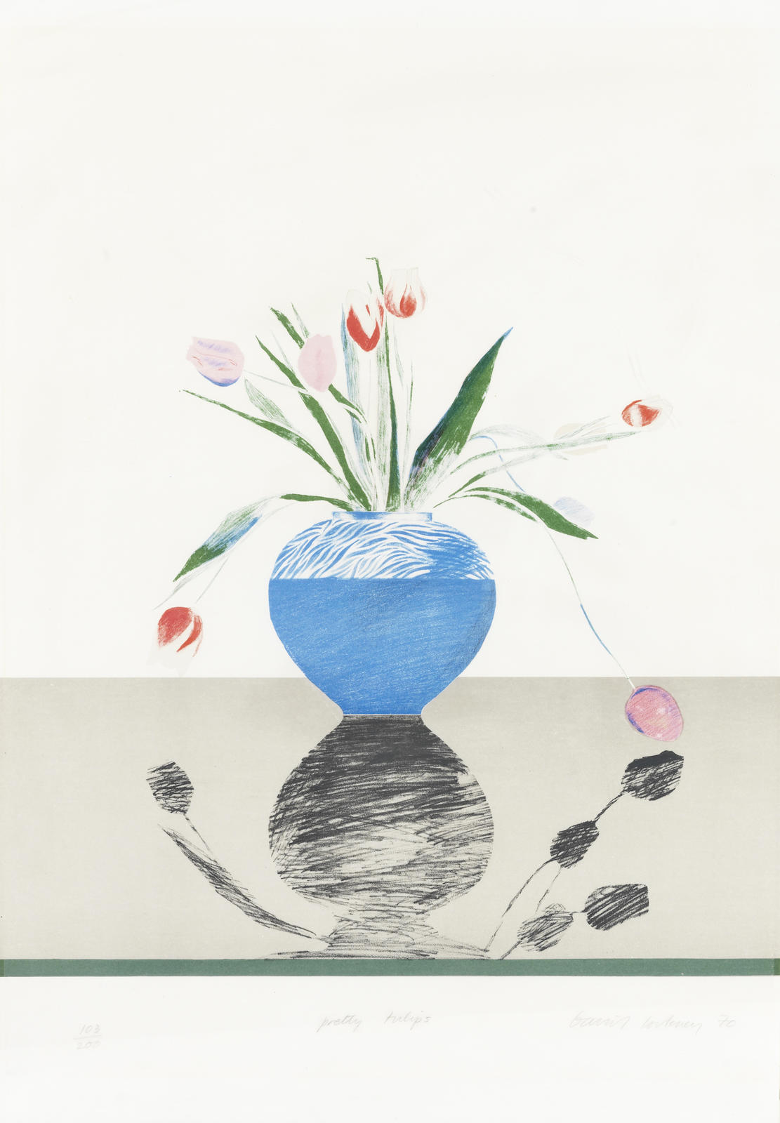 David Hockney-Pretty Tulips-1969
