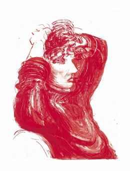 David Hockney-Red Celia, from Moving Focus-1985