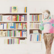 David Hockney - Ron Kitaj Reading, 1974 (Detail)