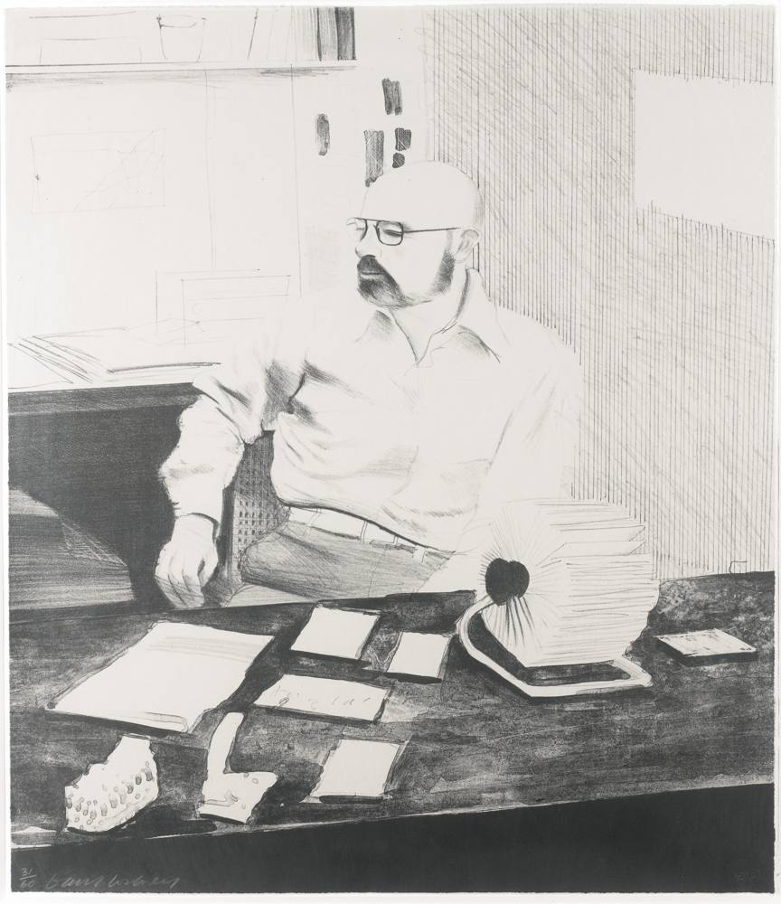David Hockney-Sidney In His Office-1976