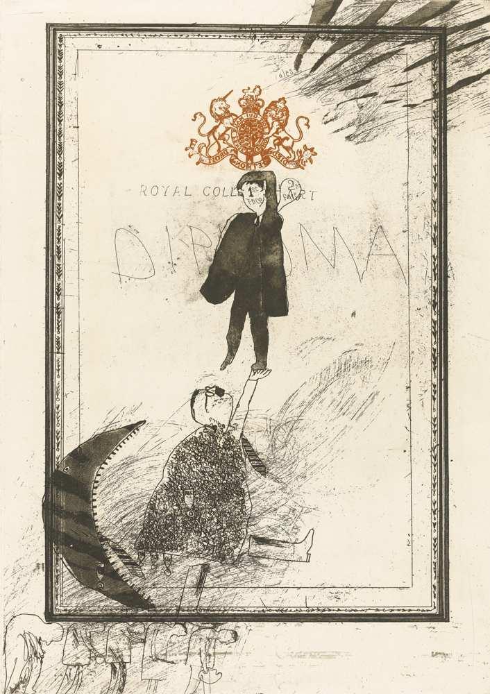 David Hockney-The Diploma-1962