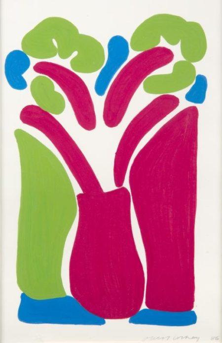David Hockney-The Red Pot-1986