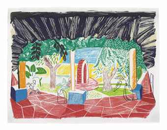 David Hockney-Views of Hotel Well I, from Moving Focus-1985