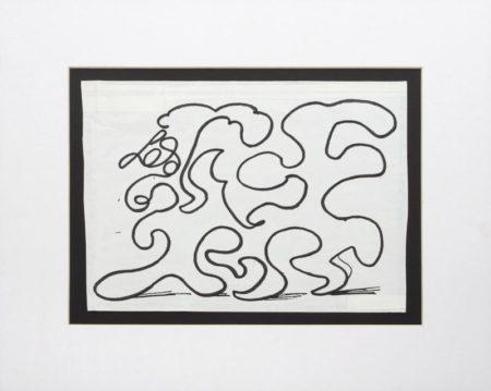 David Hockney-White Lines Dancing In Printing Ink (V.Ii)-