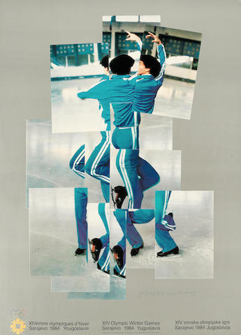 David Hockney-XIV Olympic Winter Games, Sarajevo-1984