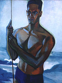 hawaii David Howard Hitchcock - Kauai Fisherman, c. 1930 hawaii