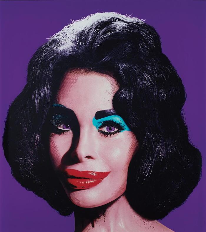 David LaChapelle-Amanda as Andy Warhol's Liz in Purple-2007