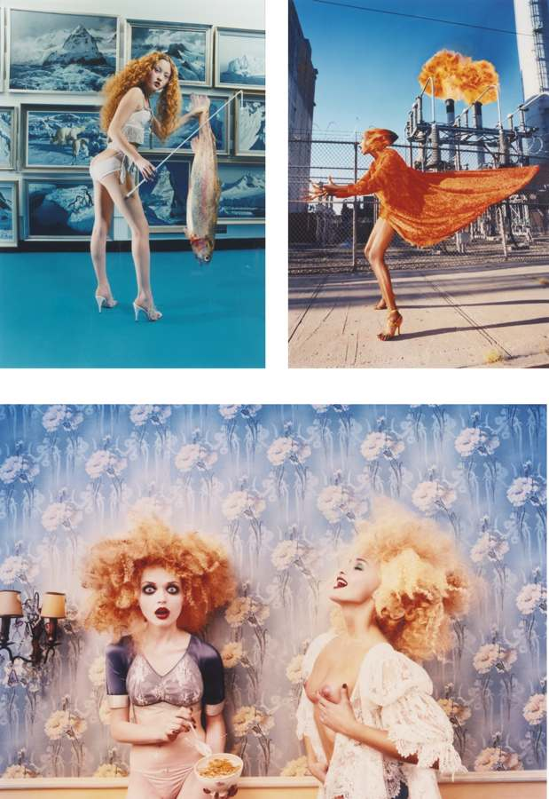 David LaChapelle-Fish Stick; Hot Flash; Milk Maidens-1998
