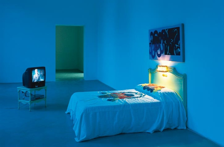 David Reed - Two Bedrooms in San Francisco, Judy's Room, 1994, photo credits Kunstverein Hannover