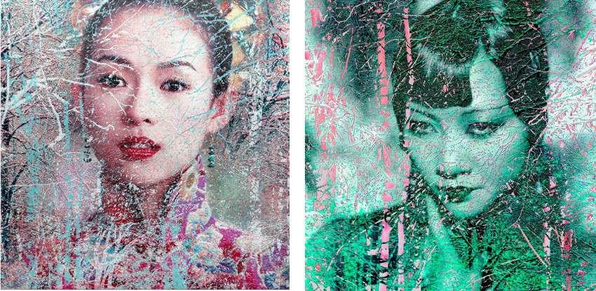 D.Scheinmann - Untitled 1 - Dan Actresses Series (Left) / Untitled 2 - Dan Actresses Series (Right)