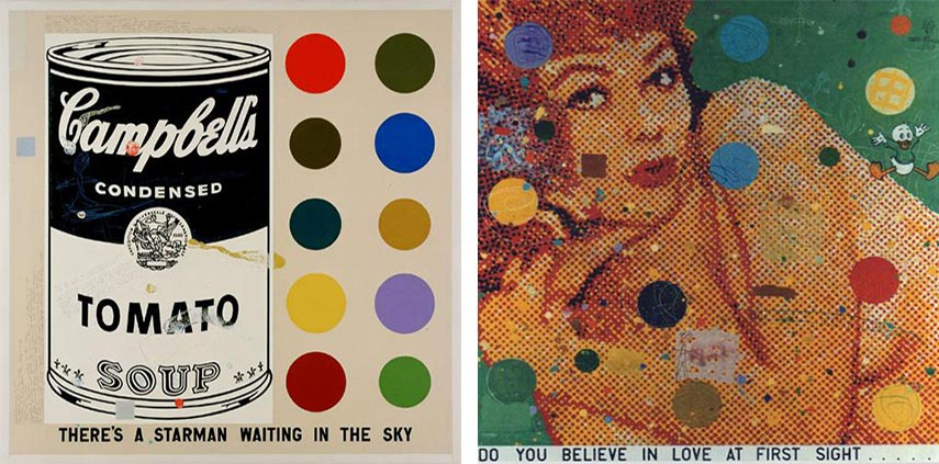 David Spiller - There's a Starman, 2002 (Left) / Do You Believe In Love At First Sight - 1996 (Right) - Photo Credits: Artist