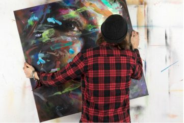 David Walker in his studio