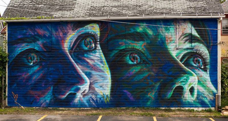 David Walker - mural for Wall Therapy, New York, 2014 contact using home work