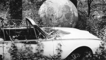 David Wojnarowicz - Abandoned car with globe, 1988-9