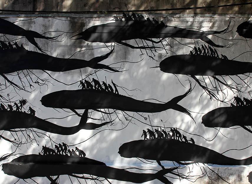 David de la Mano - High Tide (detail), Montevideo, Uruguay, 2016 Image copyrights © StreetArtNews