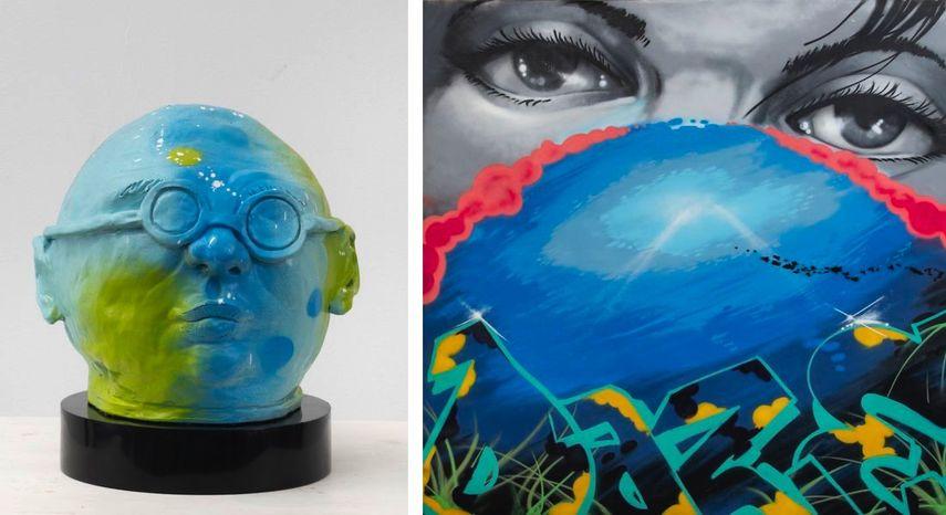 Daze - Big Boss Head, 2018, Daze - Undersea Dream, 2018