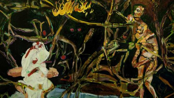 Dean Melbourne - Wudubeam (detail), oil on canvas, 120 x 90cm, 2016