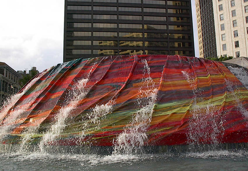 Deanna Sirlin - Fountain Mix, 10 x 50 feet, Woodruff Park, Atlanta, Georgia, USA