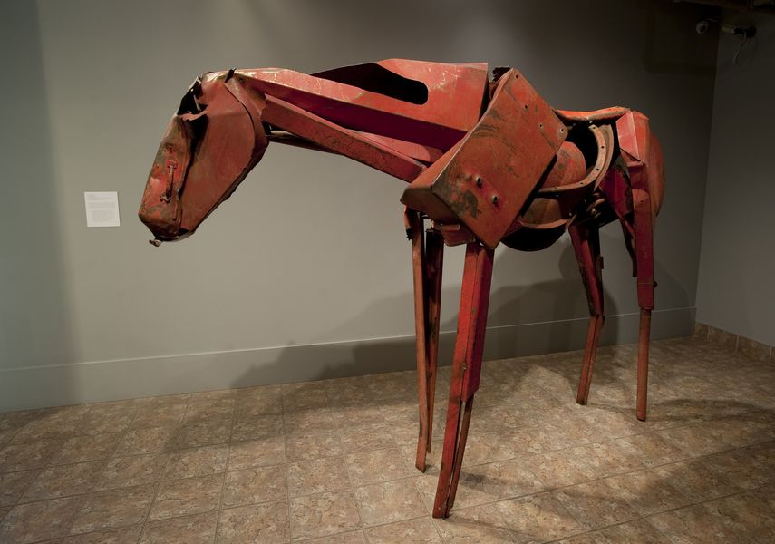 The art works of steel by Butterfield were on view in museum and gallery in California