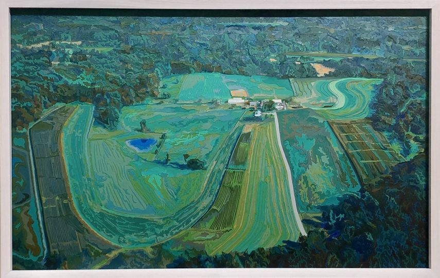 Deborah Claxton - Farm from A Helicopter, 2005