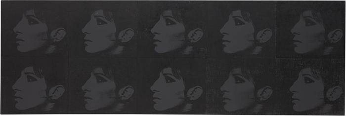 Deborah Kass-10 Black Barbras (Jewish Jackie Series)-1992