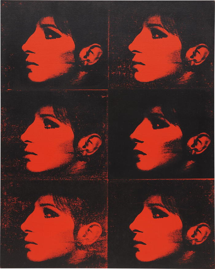 Deborah Kass-Six Red Barbras (Jewish Jackie Series)-1992