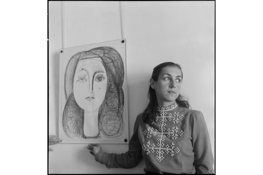 Denise Colomb - Francoise Gillot aside of her portrait by Picasso