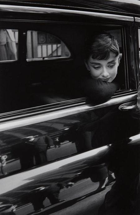 Dennis Stock-Audrey Hepburn during the filming of 'Sabrina' by Billy Wilder-1953