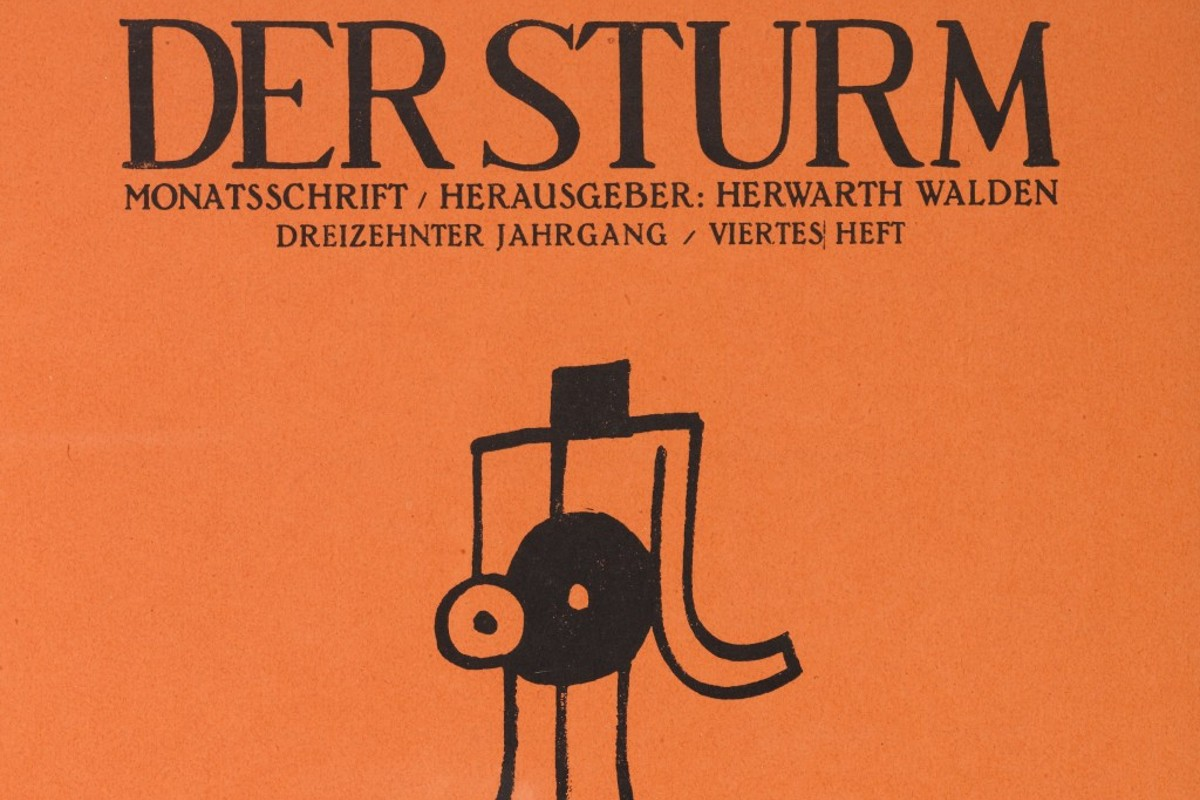 Der Sturm Magazine Cover from April 1922