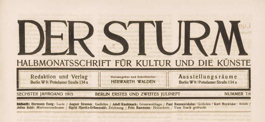 Der Sturm Magazine, August 1913-1914