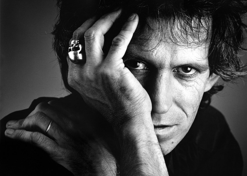 Derek Ridgers - Keith Richards, 1986 -  The gallery and culture books fashion in London are close in 2014 - photographs of brown youth