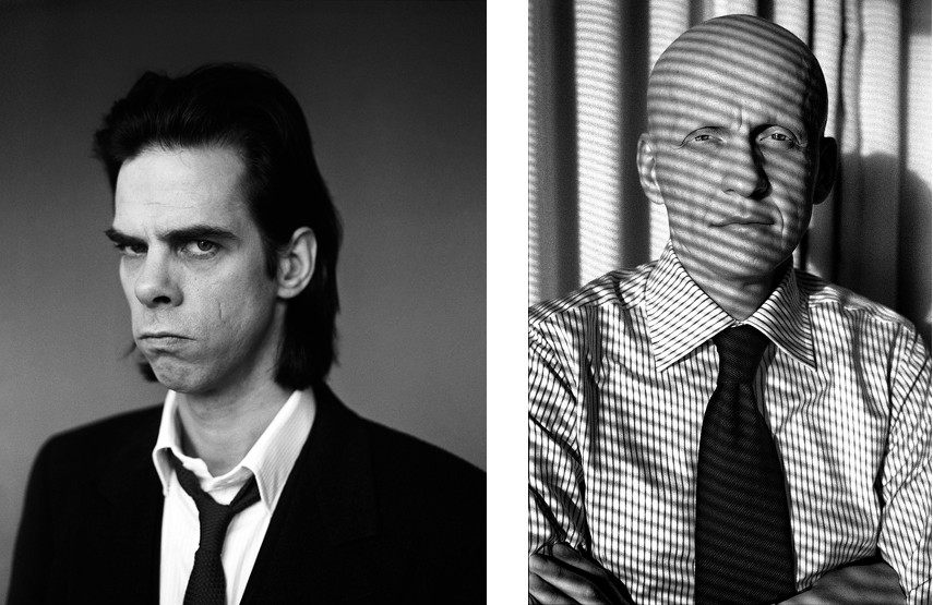 Derek Ridgers - Nick Cave, 1997 (left), Pierluigi Colina, 2004 (right) - The gallery and culture books fashion in London are close in 2014 - photographs of brown youth