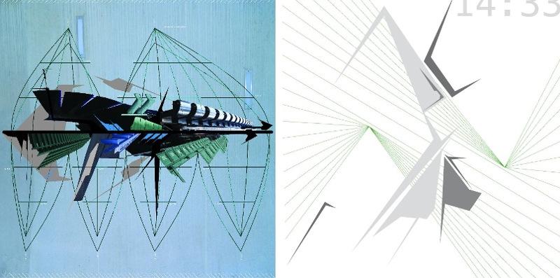 Derm - left - Brave New World, 2008 - right - Time Code, 2011 - Copyright Derm