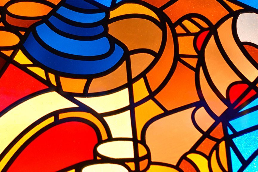 Detail, from STEFANGLERUM Stained Glass Project, photo credit Niels Gerson Lohman