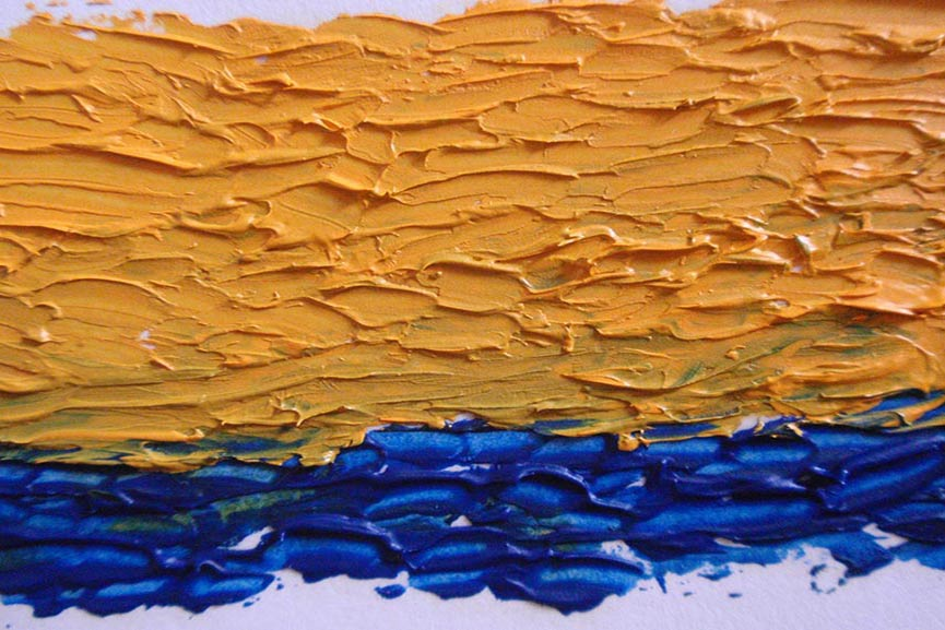 impasto techniques. paints like texture. like the using of oil and acrylic. painting techniques