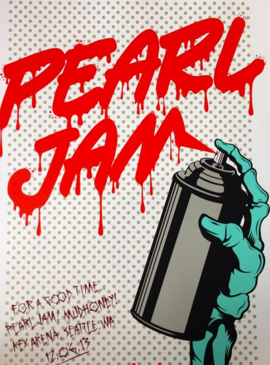 DFACE-Pearl Jam Seattle Poster-2013