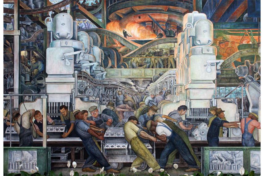 a review of diego riveras many frescoes detroit industry Diego rivera's detroit industry mural the spectacular series of frescoes diego rivera murals at the detroit institute of arts named national landmarks.
