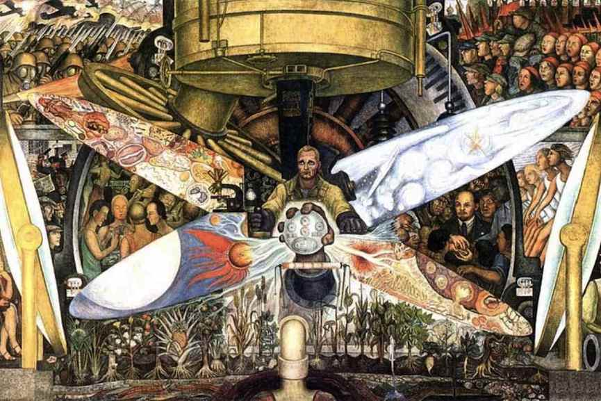 Diego Rivera painted murals that usually had characteristics of political art