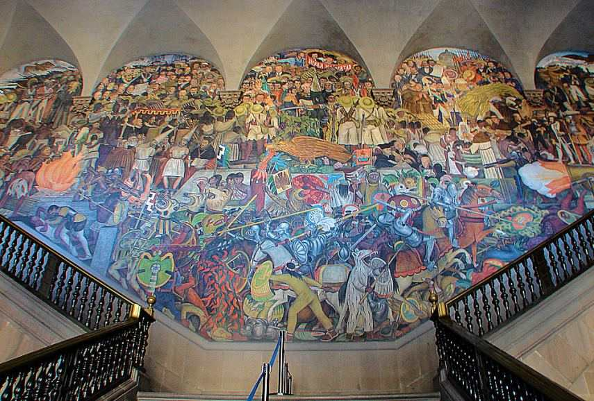 Latin american art a brief look at history and the art for Diego rivera famous mural