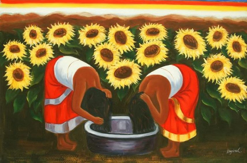 city works portrait Diego Rivera - Sunflowers