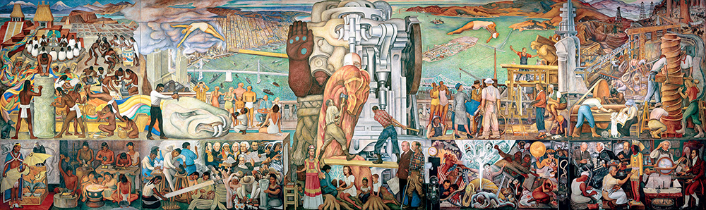Diego Rivera - The Marriage of the Artistic Expression of the North and of the South on this Continent (Pan American Unity), 1940