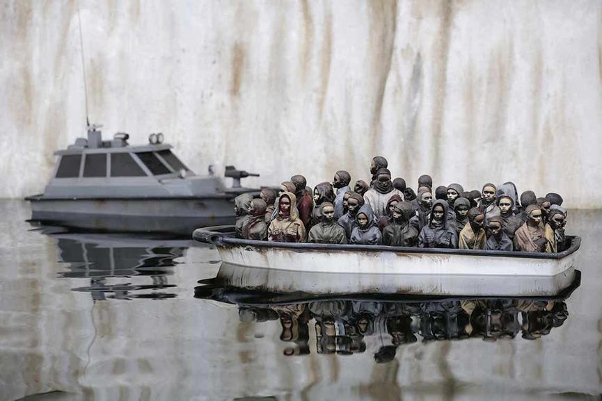 Banksy can be seen as a key figure in today's protest art and activist art