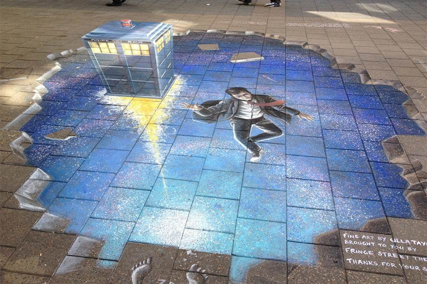 Doctor Who - 3D Chalk Drawing